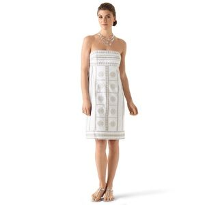 White House Black Market White Embellished Dress